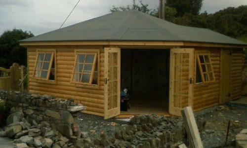 log cabin-office